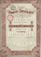 2 Action Et Part Bénéficiaire Société Produits Dominicains - Produits Monastiques Abbaye Dominicaine De Jouarre. 1911 - Mineral