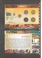 "Namibia - Folder Bolaffi ""Monete Dal Mondo"" Emissione Completa Valori UNC Km1/km5 - Namibia"