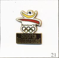 """Pin's Sports - J.O De Barcelone 1992 / Couverture Par Le Journal US """"Sports Illustrated"""" - Cartouche Noir. EGF. T781-21 - Jeux Olympiques"""