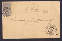 DDY 699 - Marchand De Timbres - TP Expo Anvers RENAIX 1894 Sur IMPRIME Vers VIBORG Finlande - Destination RARE - 1894-1896 Expositions