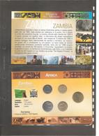 """Zambia - Folder Bolaffi """"Monete Dal Mondo"""" Emissione Completa Valori UNC  1992 - 4th Circulation Series - Kwacha - Zambia"""