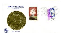 Thème Général De Gaulle - Flamme CHATEAU GONTIER Avril 1990 - Y 619 - De Gaulle (General)