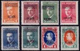 ✔️ Albania 1929 - King Zogu I Birthday Overprint - Only 5000 Sets Issued - Mi. 202/209 * MH - €150 - Albania