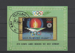Umm Al Qiwain, Souvenir Sheet Olympic Games Munich 1972, Used, Michel Block 33 - Umm Al-Qiwain