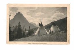 "Montana, USA, Indian, ""Indian Camp. Glacier National Park"", 1920 WB Postcard - America"