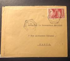 "N°38, 90C Rose Lilas OBL Hex ""ENCAMP VALEES D'ANDORRE"" (1936) Sur Lettre, TB - Lettres & Documents"