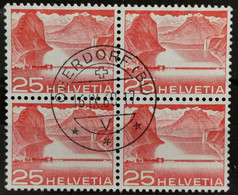 1949 Seedam Melide Viererblock MiNr: 534 - Used Stamps