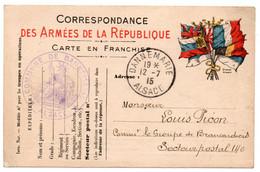 FRANCHISE MILITAIRE - CPFM - CORRESPONDANCE MILITAIRE - DANNEMARIE - CARTE FM - 1915. - Cartes De Franchise Militaire