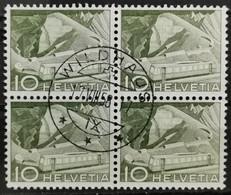 1949 Bergbahn Rochers De Naye Viererblock MiNr: 531 - Used Stamps