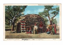 "Arizona, USA, Indian, ""Navajo Indians On Reservation"", 1935 WB Postcard - America"