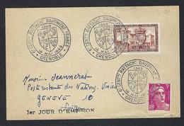 """FRANCE 1949: FDC """"Rattachement Du Dauphiné à La France"""" - Lettres & Documents"""