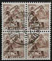 1948 Pilatus Viererblock MiNr: 500 - Used Stamps