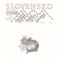 SLOVAKIA 1995 The Centenary Of Organised Philately In Slovakia /Dunafila 95 Engraved Proof (numbered) - Nuevos