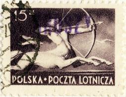 POLOGNE / POLAND 1950 GROSZY O/P T. 3 (Katowice Kt.1c Violet) Mi.586 (°KATOWICE) - Used Stamps