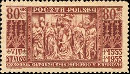 POLOGNE / POLAND 1933 - Mi.282 80gr Wit Stwosz 400th. Death Anniversary - Mint - Unused Stamps