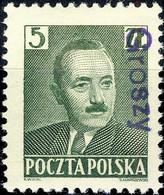 POLOGNE / POLAND 1950 GROSZY O/P T. 8 (Olsztyn O.1b) Mi.650 MOGNH ** - Unused Stamps