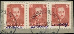 POLOGNE / POLAND 1950 GROSZY O/P T.18 (Poznan P.10a Violet) Mi.651 Used WOLSZTYN - Used Stamps