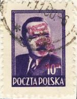 POLOGNE / POLAND 1950 GROSZY O/P T.21 (Szczecin Sz.1 Red) Mi.625 Used - Used Stamps