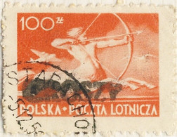 POLOGNE / POLAND 1950 GROSZY O/P T.4 (L.1b Black) Mi.590 Used STARACHOWiCE - Used Stamps