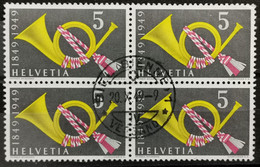 1949 Posthorn Viererblock MiNr: 519 - Used Stamps