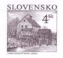 SLOVAKIA 1997 Water Pan Mill Engraved Proof - Nuevos