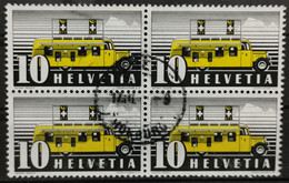 1946 Automobilpostbureau Viererblock MiNr: 311II - Used Stamps