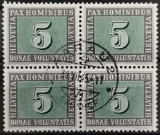 1945 Waffenstillstand Viererblock MiNr: 447 - Used Stamps