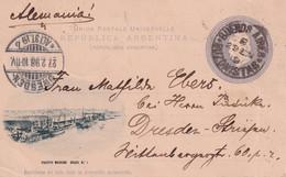 ARGENTINE 1898     ENTIER POSTAL/GANZSACHE/POSTAL STATIONARY  CARTE ILLUSTREE DE BUENOS AIRES - Entiers Postaux