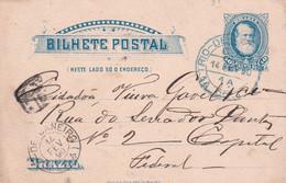 BRESIL 1890      ENTIER POSTAL/GANZSACHE/POSTAL STATIONARY  CARTE DE RIO DE JANEIRO - Enteros Postales