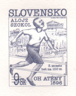 SLOVAKIA 1996 A Hundred Years Of The Olympic Games - Alojz Szokol Engraved Proof (numbered) - Nuevos