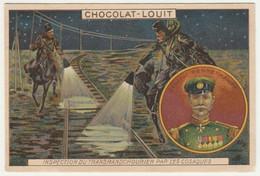 CHROMO Chocolat LOUIT GUERRE RUSSO JAPONAIS GENERAL RENNEKAMPF TRAIN CHEMIN FER TRANSMANDCHOURIEN COSAQUES RUSSIE - Louit