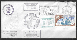 Enveloppe Cachet Dumont D'Urville-T- Adelie 21-6 1976 N° 2 - FDC
