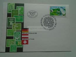 AV669.6   Austria Österreich  -  FDC Europa1988  Sonderstempel  - Trilaterale Ersttag CEPT - 1981-90 Cartas