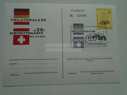 AV669.7   Austria Österreich  -   25S  Eintrittskarte  -Entry Ticket Europa1988  Trilaterale  -Salzburg - 1981-90 Cartas