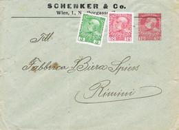 39537. Entero Postal WIEN (Imperio Austriaco) 1912 To RIMINI - Cartas
