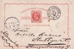 BRESIL 1884   ENTIER POSTAL/GANZSACHE/POSTAL STATIONARY  CARTE DE RIO DE JANEIRO - Enteros Postales