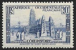 COTE D'IVOIRE   1936-38 -  Y&T  115   -  Mosquée -  NEUF* - Neufs