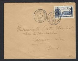 FRANCE 1949: LSC  De Paris Pour La Suisse Affr. à 25Fr - Lettres & Documents
