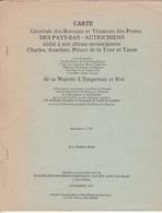 Carte Générale Des Bureaux Et Tenance Des Postes Des Pays Bas Autrichiens 10 Pages - Non Classificati