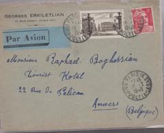 LSC -  Par AVION De PARIS Pour ANVERS / 16.2.1949 - Luchtpost