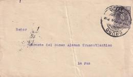 BOLIVIE  ENTIER POSTAL/GANZSACHE/POSTAL STATIONARY  LETTRE DE ORURO - Bolivia