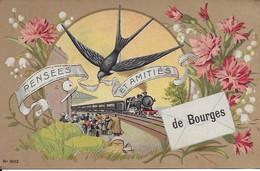 Pensées Et Amitiés De Bourges Carte En Bon état - Bourges