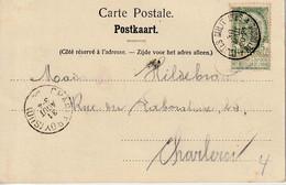 """MANEUVERS 1906 : ZK (Tongeren -Le Jaer) PZ 56 """"POSTES MILITAIRE / 4 / 30 AOUT 20-21/ BELGIQUE""""  Naar """"CHARLEROI/ 06"""" - Correo Militar"""