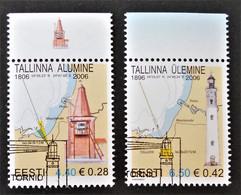 PHARES DE LA BAIE DE TALINN 2006 - OBLITERES - YT 517/18 - MI 552/53 - HAUTS DE FEUILLES - BELLES OBLITERATIONS - Estland