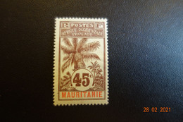 MAURITANIE PALMIERS N°11 * Mh - Neufs