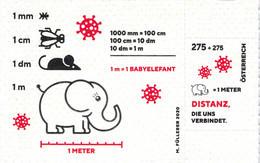 Österreich, Corona Briefmarke 2020, Auf Toilettenpapier 1x Postfrisch - Errores & Curiosidades