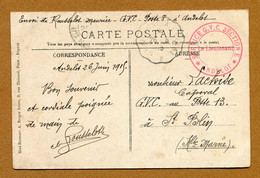"ANDELOT  (52) : "" SERVICE G.V.C. - POSTE 8 - SECTION E "" (1915) Pour "" G.V.C. - POSTE 13 - SAINT-BLIN "" - WW I"