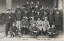 Carte Photo 10e D'artillerie Groupe D'officiers Et Sous Officiers Détachement De St Jean Du Var 1914 1915 - Toulon