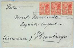 93936 - ARGENTINA - POSTAL HISTORY - Congreso Panamericano*3 On COVER To GERMANY - Cartas