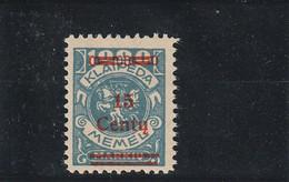 Memel (klaipéda) N° 192* - Unused Stamps